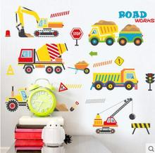 Waterproof adhesive can remove the cartoon children in kindergarten wall stickers The boy bedroom lovely car tr