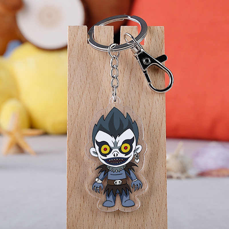 Anime Death Note Ryuk L Anime Acessórios Keychain Dos Desenhos Animados Double-Sided Pingente Anel Chave
