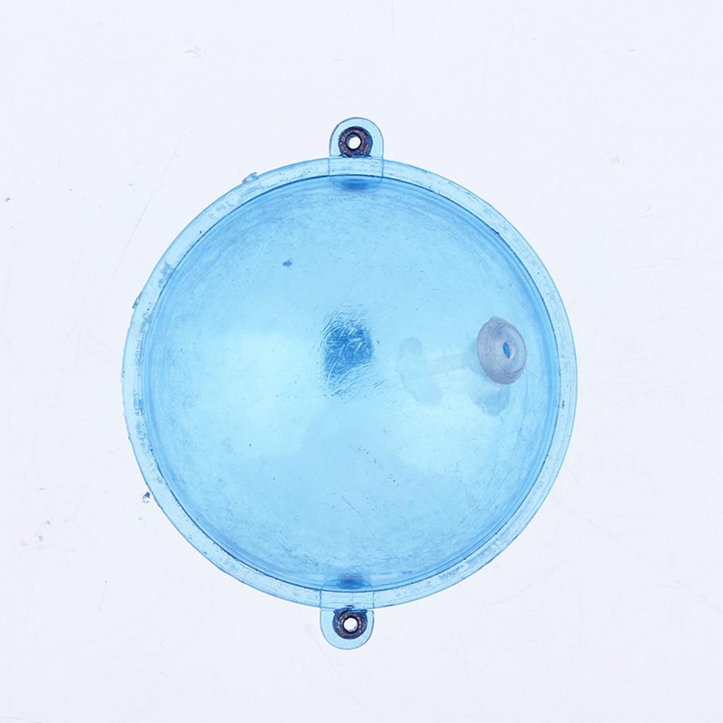 5pcs Fishing Float ABS Plastic Balls Water Ball Bubble Floats Clear Round Fishing Bobber Buoy Airlock Strike Indicators Blue