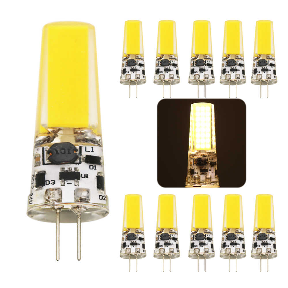 10pcs G4 COB LED Bulb 9W ACDC 12V AC220V LED G4 lamp Crystal LED Light Bulb Lampada Lampara Bombilla Ampoule Replace Halogen