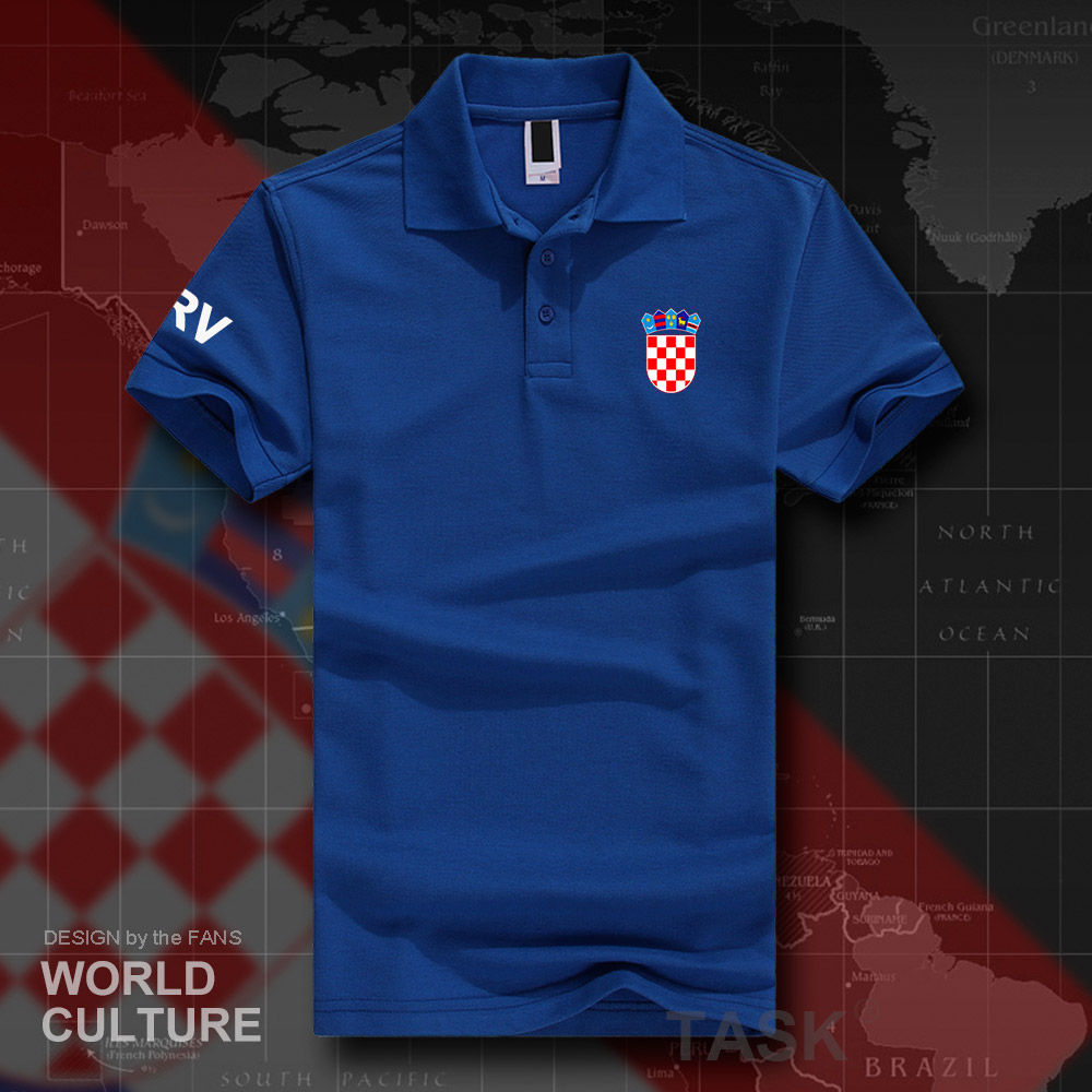 Croatia Hrvatska Croatian HRV Croats   polo   shirts men short sleeve white brands printed for country 2018 cotton nation team 20