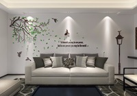 Acrylic crystal three-dimensional Sofa wall Living room wall TV background wall 3D three-dimensional wall stickers