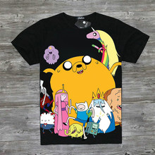 f0c02583f7a Adventure Time T-Shirt Fashion Cartoon Full Print Adventure Time Finn and Jake  T Shirt