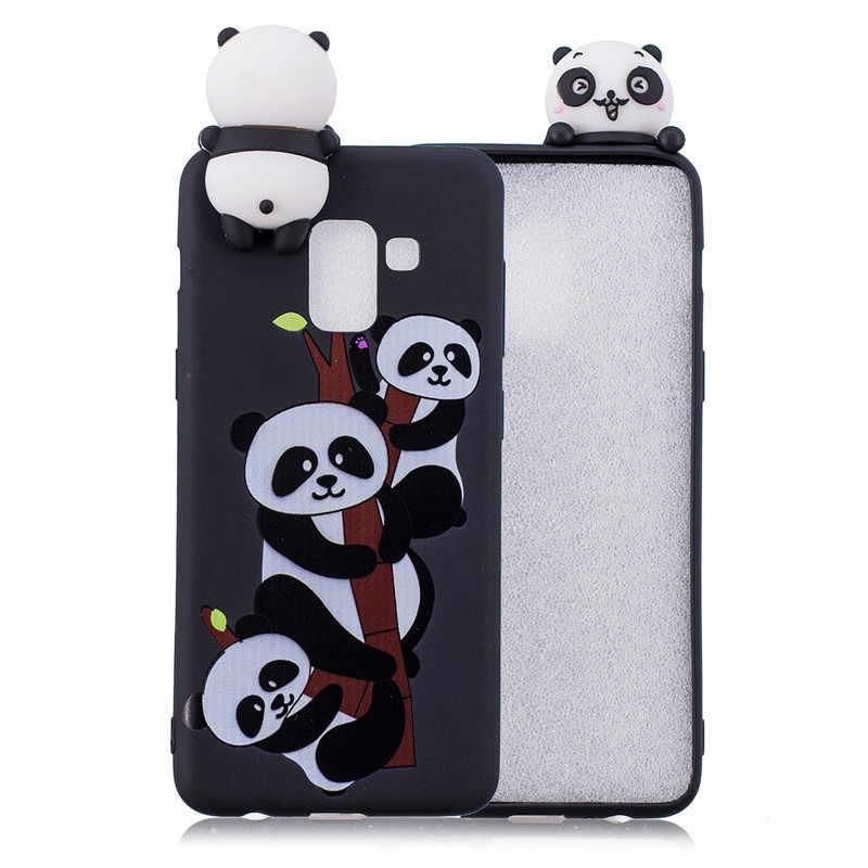 2499f49773 ... 3D Soft Silicone TPU Case For Samsung Galaxy A5 2018 A530F Cute Panda  Owl Unicorn Phone ...