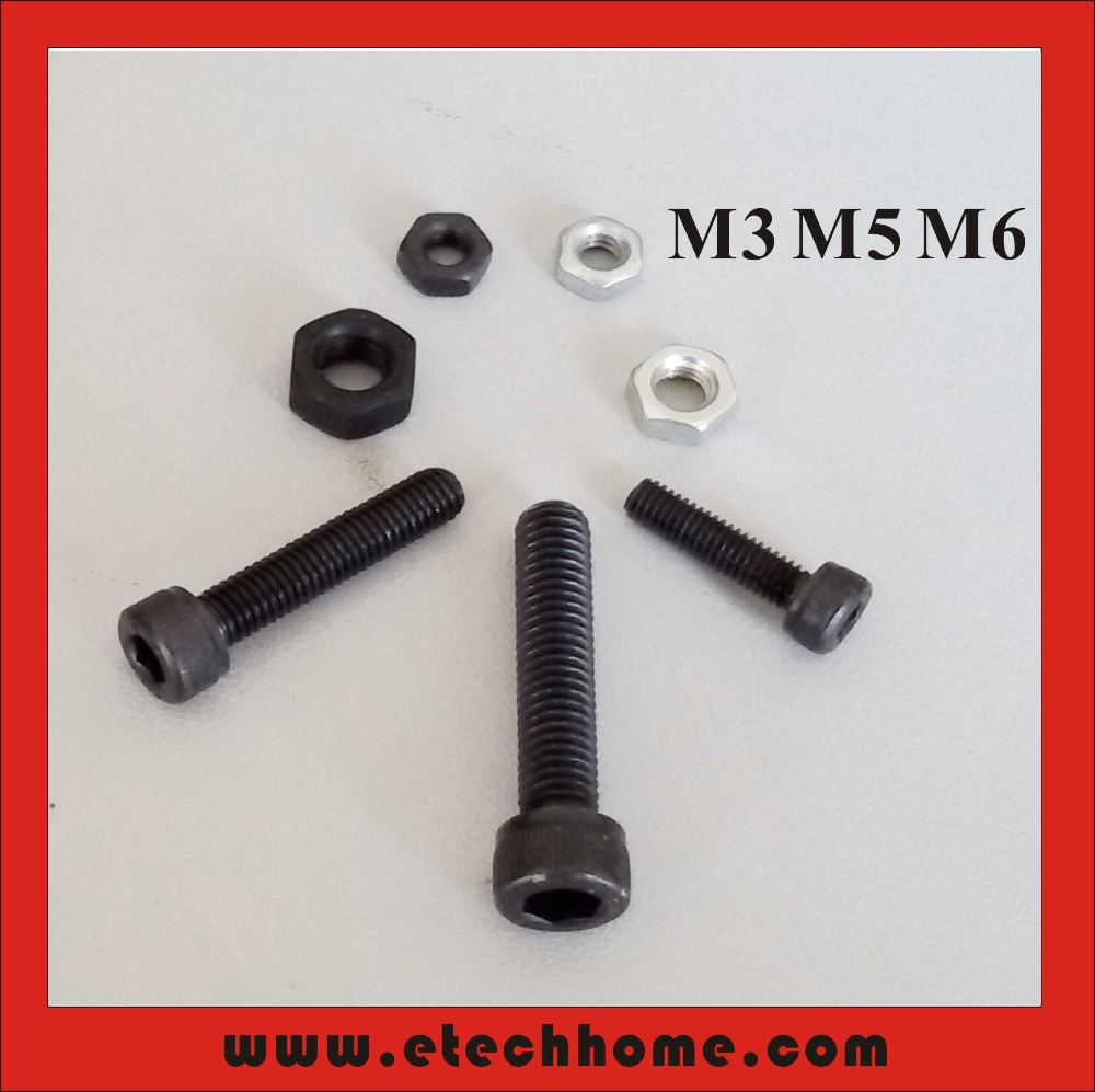 Top Quality Hex Socket Bolt and Nut M3 M5 M6 for NEMA 17 23 34 Stepper Motor Kits 42 57 86 Stepper Accessories Pins and Nails