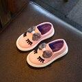 Zapatos de los niños Niñas Zapatillas de Deporte Nueva Primavera Otoño Lindo Arco de La Manera Muchachas de La Princesa Zapatos de Los Niños Suave Solos Zapatos Ocasionales del Tamaño 21-30