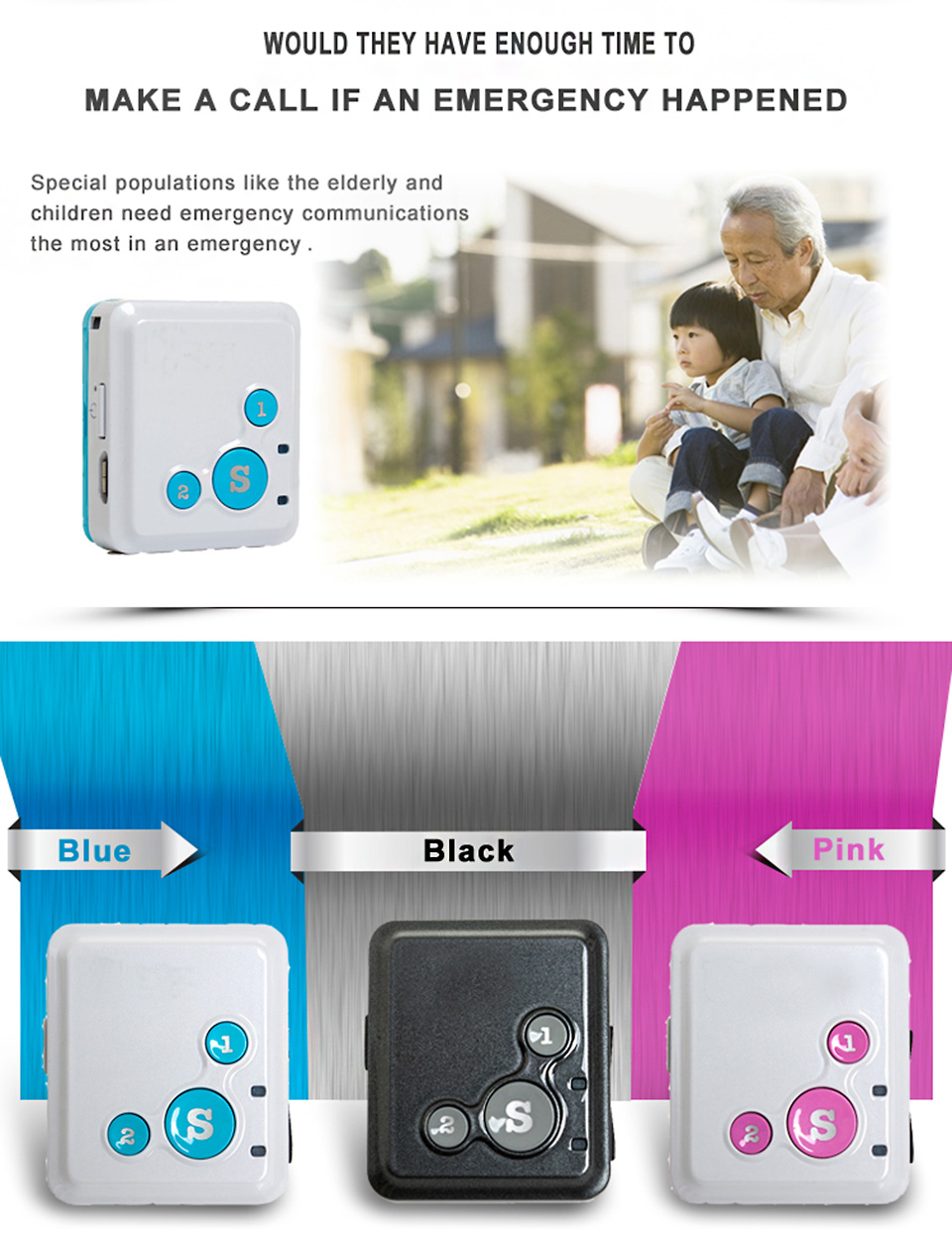 Kids Mini GPS Tracker SOS Communicator With Voice Monitoring