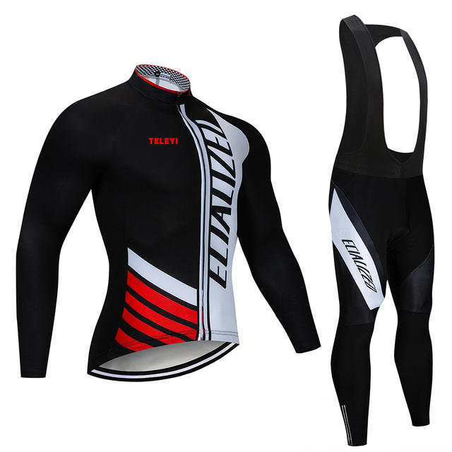 2018 SPECIALIZEDING Long Sleeve Cycling Jersey Set Mountain Bike Clothes  Wear Maillot Ropa Ciclismo Quick 8a0920d31