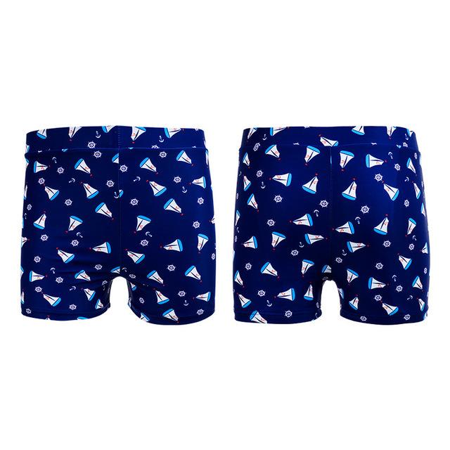 2018 Swimsuit Swimming Shorts Boy Kids Swimwear Sailboat Pattern Beach Wear Surf Shorts Kid Children's Swimming Trunks Swim Suit
