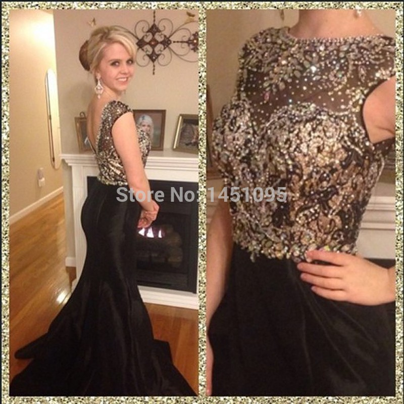 Gold Long Formal Evening Dress V Neck Beaded Sequin Pageant Prom