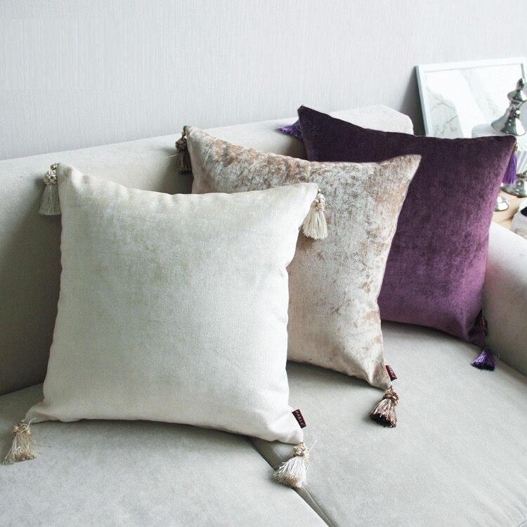 luxury throw pillow european cushion cover grey decorative cushions home decor modern velvet pillowcase for sofa - Grey Throw Pillows