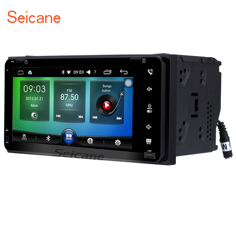 Seicane 2 din 7 inch Android 6.0 Car Radio GPS Navigation for TOYOTA COROLLA Camry Land Cruiser HILUX PRADO RAV4 android 7 1 dvd player for toyota universal rav4 corolla vios hilux terios land cruiser 100 prado 4runner dvr bluetooth rear cam