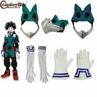 CosplayDiy My Hero Academia 3 Boku no Hero Academia Cosplay Izuku Midoriya Battle Costume Props Deku Mask Gloves Accessory