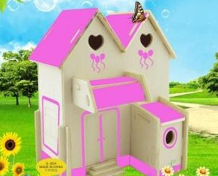 Us 799 1pclot House Puzzle Toys 13 Styles Constructions 3d Wooden Toys Windmillforestcoffeestorepink Education Kids Toys In Puzzles From Toys