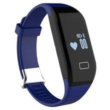 H3 Bluetooth 4.0 IP67 waterproof OLED Display smart watch wristband Heart rate pedometer(Blue)