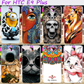Жесткий Пластик и Мягкий ТПУ Телефон Обложка Для HTC One E9 E9 + E9 ПЛЮС 5.5 дюймов Случаи Прохладный Череп Симпатичные Миньоны Цветок Защитной Оболочки