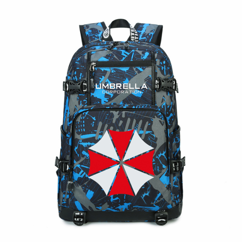 Women Men Anime Umbrella Corporation Resident Evil Backpack Rucksack Mochila Schoolbag Bag For School Boys Girls Student Travel anime cartoon tokyo ghoul cosplay backpack schoolbag one piece gintama school bag rucksack men s women s naruto travel bag