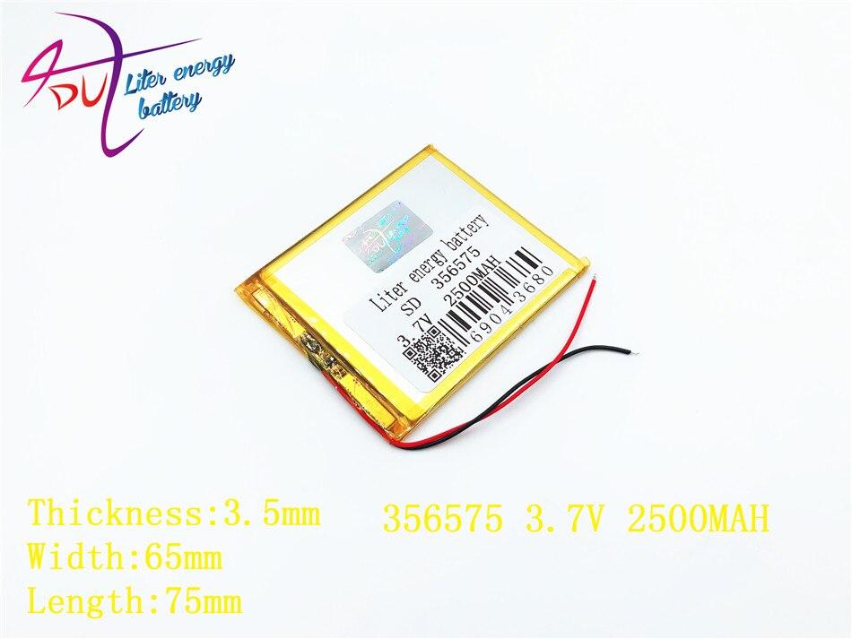 Vornehm Beste Batterie Marke Größe 356575 3,7 V 2500 Mah Lithium-polymer-batterie Mit Schutz Bord Für Mp4 Gps Tablet Pcs Unterhaltungselektronik Batterien