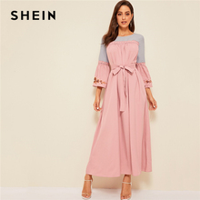 SHEIN Lace Dress Belted