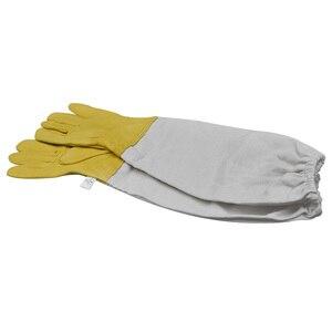 Image 3 - Перчатки для пчеловодства, защитные рукава, проветриваемые профессиональные перчатки из овчины и парусины для пчеловодства