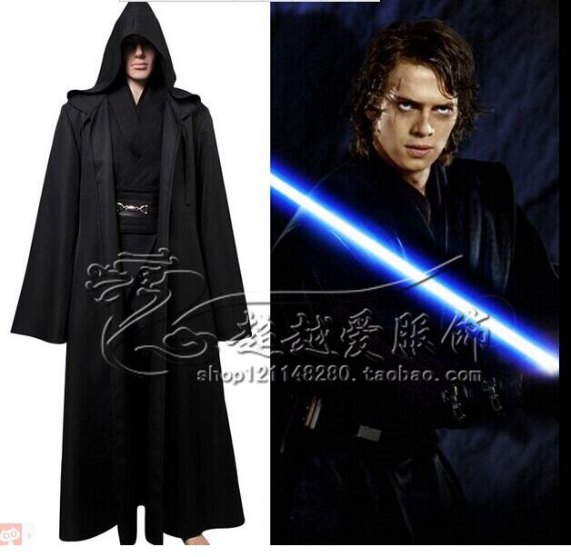 JEDI SITH Star Wars Anakin Kylo Ren Darth Vader brown black cape CLOAK Robe  uniform cotton set 53900c7b1