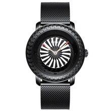 78f4d30a952 Homens Relógio Automático de Rotação Da Turbina Bezel Dial Relógio Quartz  Mens Relógios De Pulso De Luxo de Aço Completo Relógio.