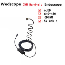 7MM 5M Android Endoscope Focus Camera Lens USB Cable Waterproof 6 LED 1/9″ CMOS Mini USB Endoscope Inspection Camera