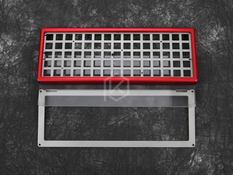 xd75re Anodized aluminum Case Plate Kits for diy 60 Mechancial Gaming Keyboard