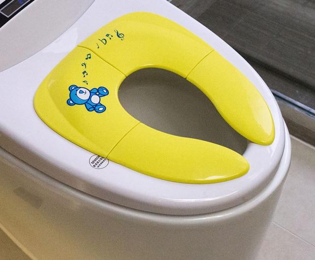 Orinal plegable de viaje para bebé, asiento portátil para niño, asiento de entrenamiento para el baño urinario para niños, cojín para niños, pote, silla, almohadilla/alfombra