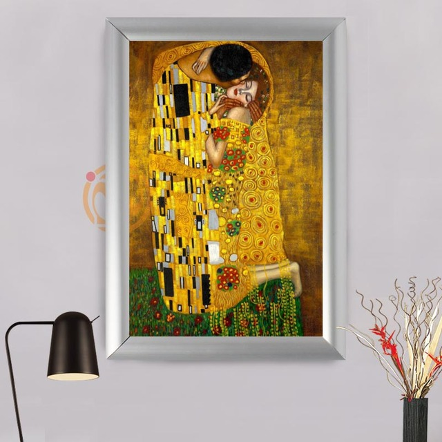 gustav klimt Custom Frame Painting Canvas Prints Retro fashion Wall ...