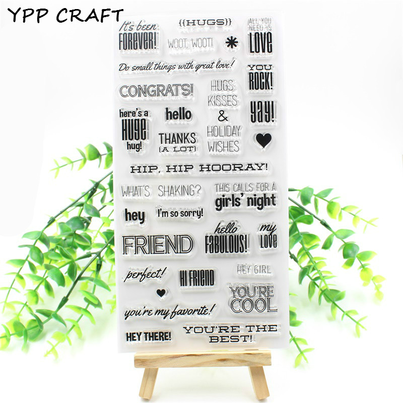 YPP CRAFT Friend Transparent Clear Silicone Stamps for DIY Scrapbooking Planner/Card Making/Kids Crafts Fun Decoration Supplies коаксиальная автоакустика kicx stn 502