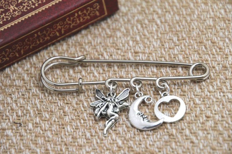 12pcs Shakespeare inspired Midsummer Nights themed charm kilt pin brooch (38mm)