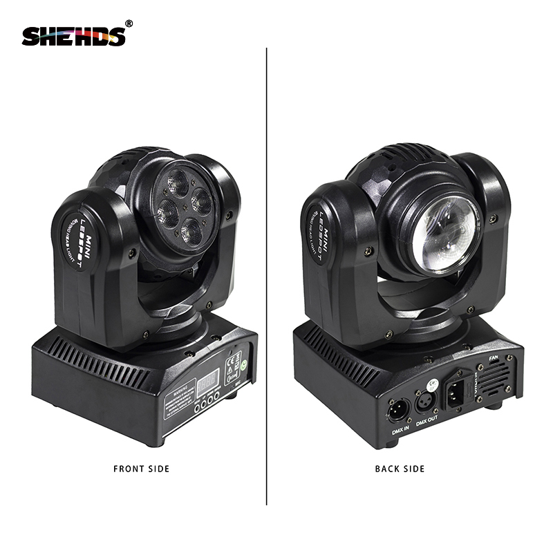 Fast Shipping LED Beam+Wash Double Sides 4 X10W + 1 X10W Moving Head Lighting DMX512 Stage Effect For Party Dj Disco