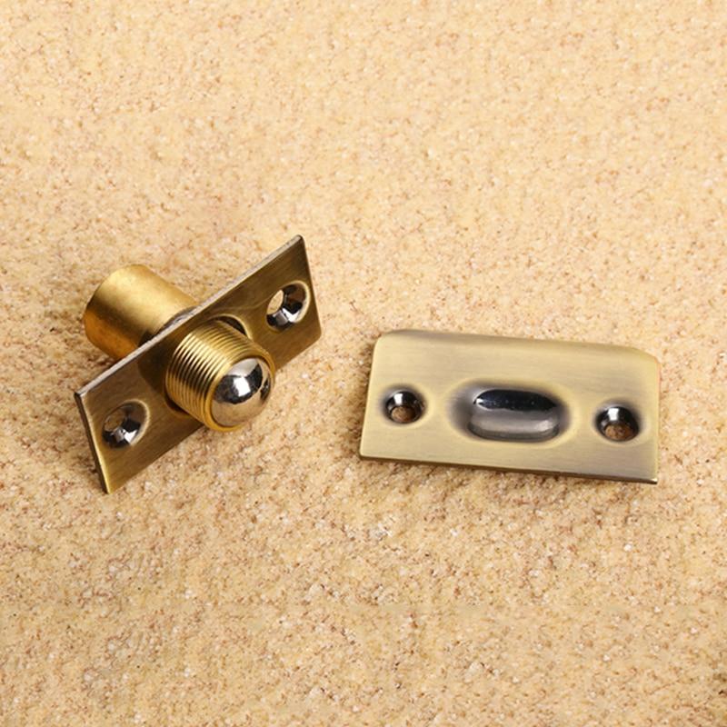 Brass Door Latch Lock For Kitchen Cabinet Spring Roller Latches Lock  Lockable Doors Lock Hidden Door Closer In Door Stops From Home Improvement  On ...