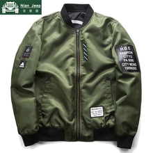 Fashion Bomber Jacket Men Both Side Wear Thin Jackets Male Air Force P