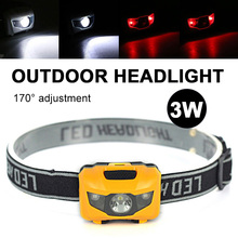 Head Torch Lamp 4modes Camping Super Bright Headlamp Sporting Goods Red Light High Power Headlight Drop Shipping