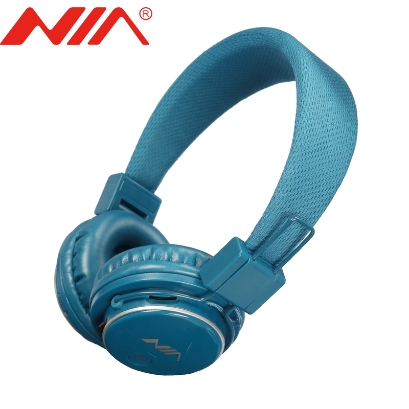 Stereo Headphones Original NIA 8809S EQ  Free Shipping Foldable Sport Support TF Card FM Radio Earphone economic set original nia 8809s 8 gb micro sd card a set wireless headphone sport for tv with fm