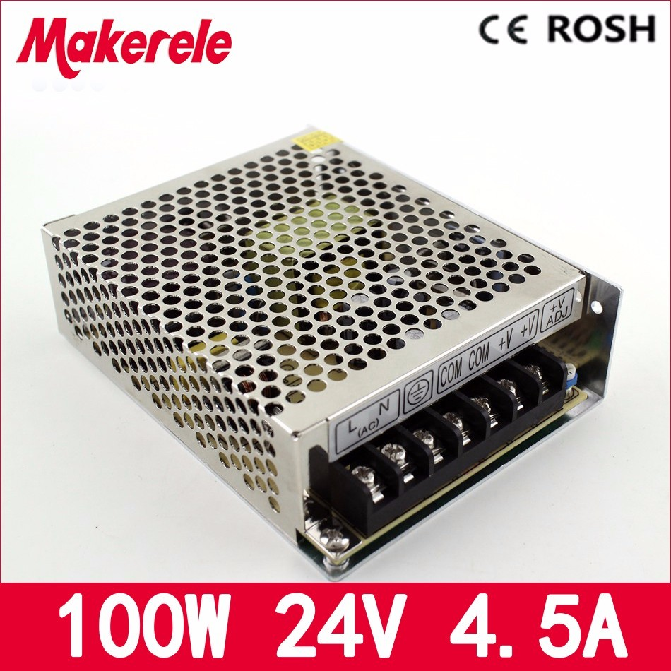 24V 4.5A 100w MS-100-24 Single Output Mini size LED Switching Power Supply Transformer 110V 220V AC to 24V DC with CE