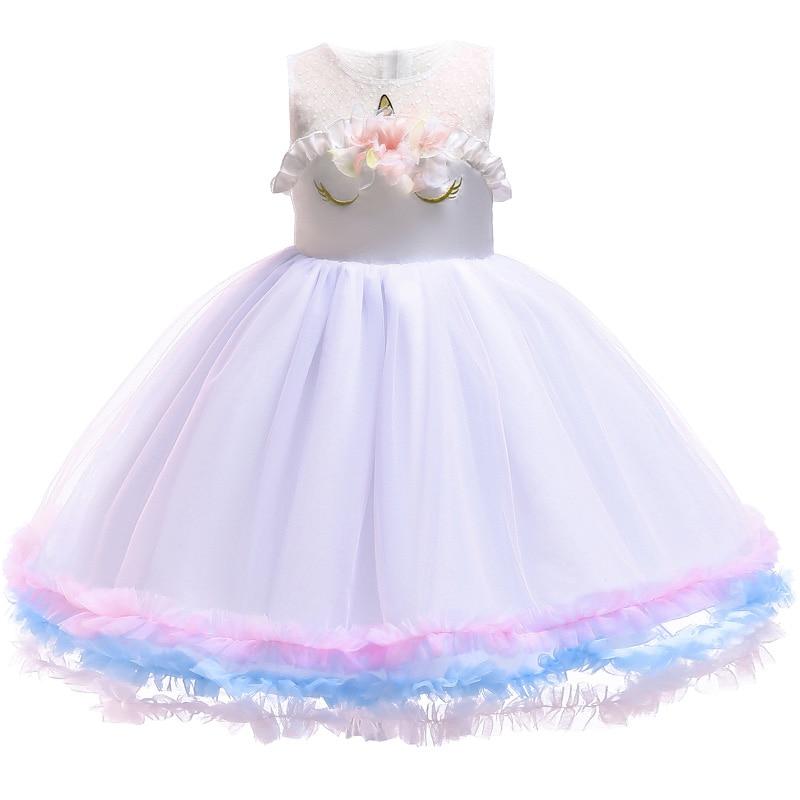 HTB1s2JaasnrK1RjSspkq6yuvXXaJ Unicorn Dresses For Elsa Costume Carnival Christmas Kids Dresses For Girls Birthday Princess Dress Children Party Dress fantasia