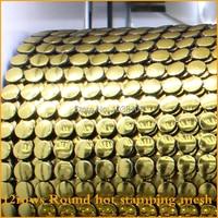 Free Shipping Gold Round Plastic Rhinestone Mesh Trimming Sewing Mesh 5yards Lot 12rows Trimming Wedding Dress