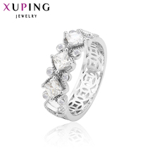 Xuping Fashion Ring with Synthetic Cubic Zirconia European Style Top Quality Double Wedding Brand Jewelry Gift
