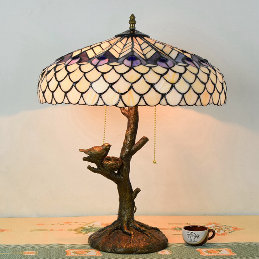 Hot Sale European Style Tiffany White Glass Table Lamp Restaurant Study  Decorative Table Lamp Peacock Lamps In Candle Accessories From Home U0026  Garden On ...