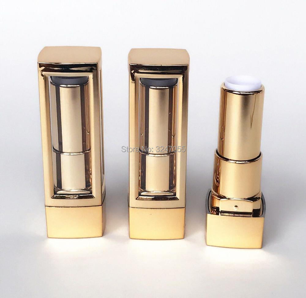12.1mm Elegant Empty Gold Lipstick Tubes, Plastic Cosmetic Lip Beauty Makeup Tools,Cosmetic Lip Balm Packing Bottle, 10/30/50pcs sleek makeup губная помада lip v i p lipstick 3 6 гр 9 оттенков губная помада lip v i p lipstick 3 6 гр attitude тон 1012 3 6 гр