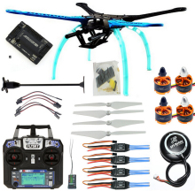 RC Drone Quadrocopter 4-axis Aircraft Kit 500mm Multi-Rotor Frame 6M GPS APM2.8 Flight Control Flysky FS-i6 TransmitterF08151-M  f14892 e diy rc drone quadrocopter x4m360l frame kit qq super flight control