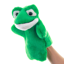 1 Pcs Classic Cute Carton Animal Hand Puppet Toys Plush Puppets Frog Doll Baby Toy Animals Marionetes Fantoche