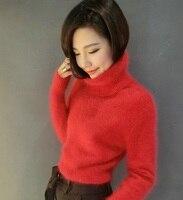 Women's sweater mink cashmere turtleneck sweater head mink cashmere loose coat thickening 023