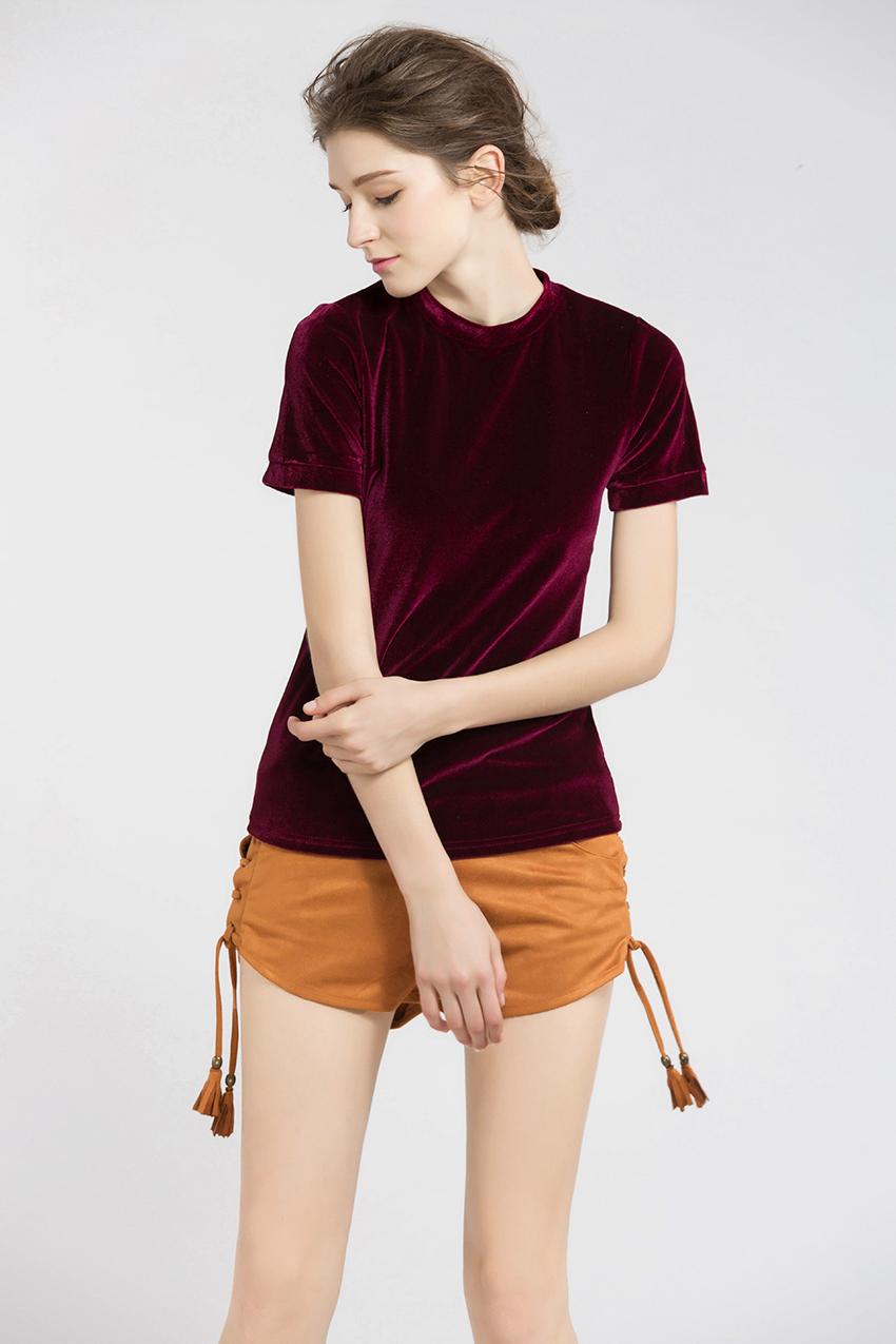 HTB1s2KKSXXXXXXnXXXXq6xXFXXX5 - Summer Tops Short Sleeve Cotton Velvet T Shirt Women
