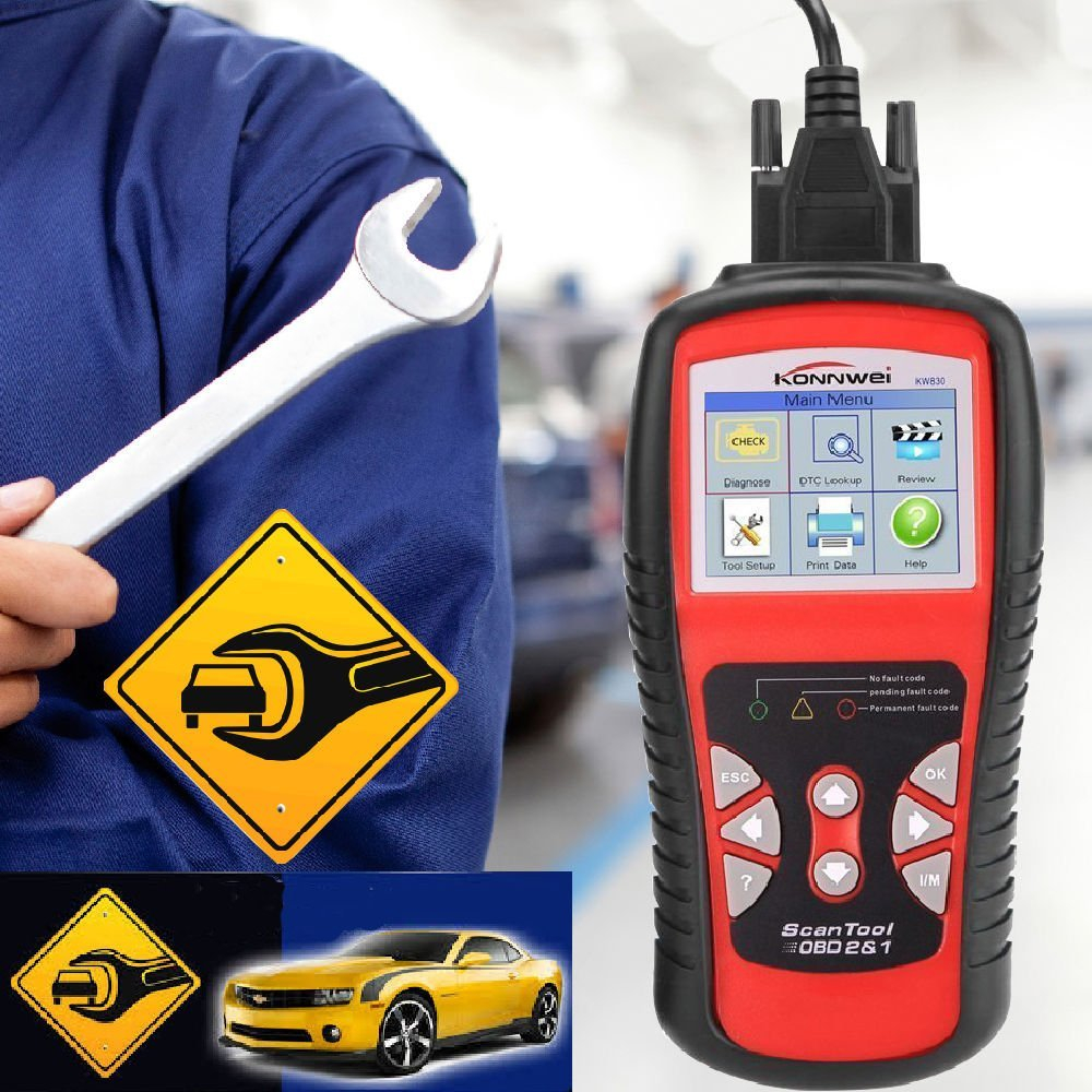 Image 5 - Factory Price OBDII EOBD CAN Scanner tool KW830 Auto Code Reader 
