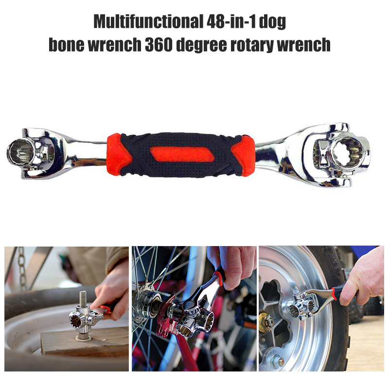 Universal 48 in 1 Multi-functional Wrench 360 Degree Rotary Automobile Ratcheting Spanner Hand Tools MJJ88