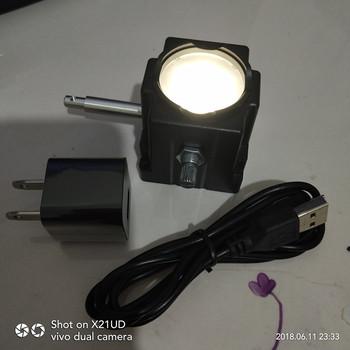 Nowy USB białe światło led do ładowania oświetlenie dolne światło źródła światła mikroskop biologiczny regulowane światła do mikroskopu tanie i dobre opinie SHANBAO 500X i Pod microscope light source Metal Mikroskop stereoskopowy Inne Microscope Ring lamp
